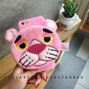 Fluffy Warm Wallet Pink Panther Cute Silicone Case For iPhone 7 7Plus 6 6s Plus | eBay