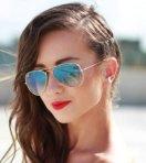 $89.99 RAY BAN Aviator Arista Light Blue Gradient Lenses 58mm Sunglasses