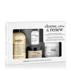 cleanse, refine & renew kit   skincare set   philosophy new!