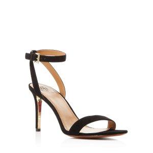 Tory Burch Elana Suede Ankle Strap High Heel Sandals | Bloomingdale's