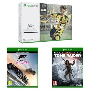 $272 Xbox One S (500GB) with FIFA + Forza Horizon 3 + Rise of the Tomb Raider