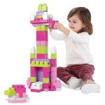 Mega Bloks DCH62 First Builders Big Building Bag, 80-Piece, Pink