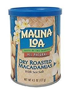 $4.73 Mauna Loa Macadamias, Dry Roasted with Sea Salt, 4.5 Ounce Container