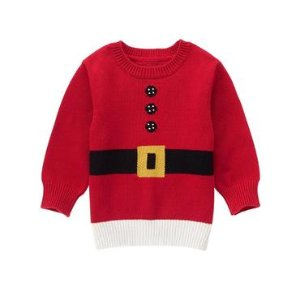 Toddler Boys Holly Red Santa Sweater by Gymboree