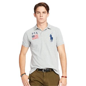 Custom-Fit USA Mesh Polo - Custom Fit � Polo Shirts - RalphLauren.com