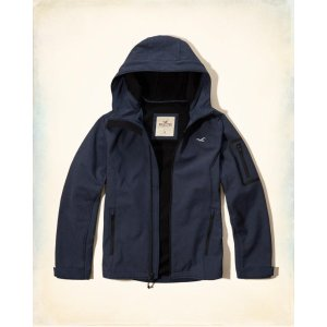 Guys Softshell Hooded Jacket | Guys Clearance | HollisterCo.com