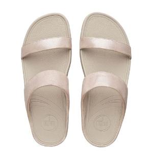 Lulu™ Shimmersuede Slide Sandals, Nude | FitFlop™ US