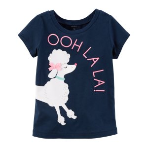 Kid Girl Poodle Graphic Tee   Carters.com