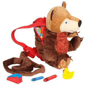 Eric Carle Bear Backpack, Children's Safety Harness, Plush and Machine Washable, Polyester, Brown @ Amazon