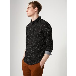 Splatter Print Poplin-Cotton Shirt | Frank + Oak