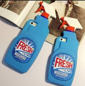 Moschino Cleaner Silicone iPhone 6 Case, Light Blue @ Neiman Marcus