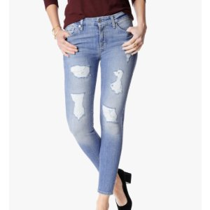 THE ANKLE SKINNY WITH DESTROY IN LIGHT BLUE
