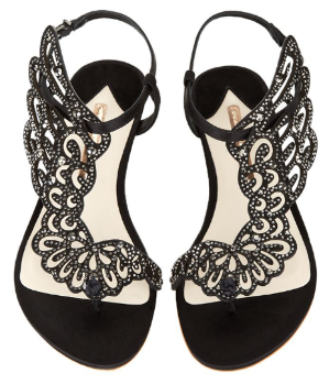 $248(Org. $495) Sophia Webster Seraphina embellished leather sandals Sale @ Net-A-Porter