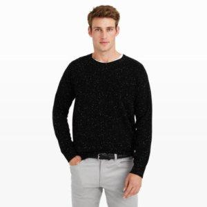 Men   Crewnecks   Cashmere Donegal Crew Sweater   Club Monaco