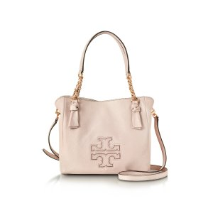 Tory Burch Harper Bedrock Leather Small Satchel Bag at FORZIERI