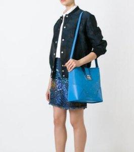 MCM Claudia Studs Crossbody Bag