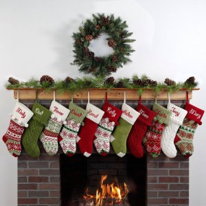 Personalized Snowflake Knit Christmas Stocking, Available in 11 Designs - Walmart.com