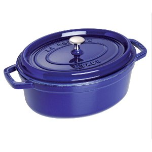 Staub Cast Iron 5.75-qt Oval Cocotte - Visual Imperfections - Dark Blue