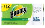 $12.78 2-Count Bounty Printed Paper Towels 8 Giant Rolls