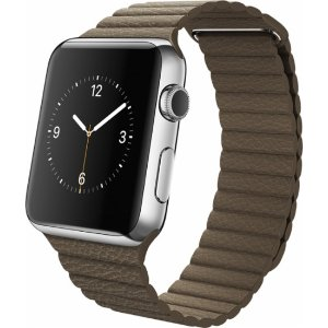 Apple Watch (first-generation) 42mm Stainless Steel Case - Light Brown Leather Loop