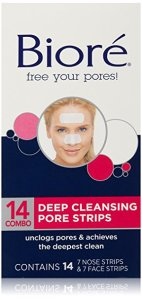 Biore Deep Cleansing Pore Strips Combo Pack, 14 strips