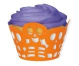 Die Cut Orange Skeleton Halloween Cupcake Wrappers, 12ct