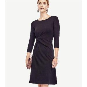 Ponte Twist Dress | Ann Taylor
