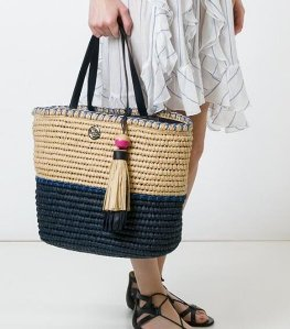 Tory Burch  Large Woven Tote