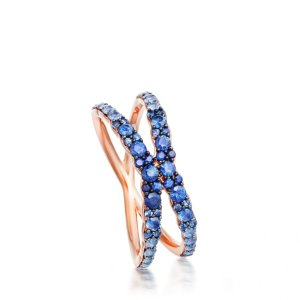14ct Rose Gold Sapphire Fusion Interstellar Ring | Astley Clarke London