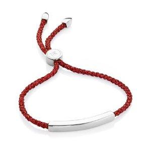 Monica Vinader Linear Friendship Bracelet Red
