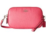 COACH Pebbled Crossbody Clutch SV/Dahlia - 6pm.com