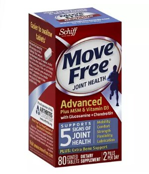 4 for $43.98 Schiff Move Free Joint Health Glucosamine Chondroitin Plus MSM & Vitamin D3, Tablets