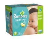 Amazon.com: Pampers Baby Dry Diapers Economy Pack Plus, Size 2, 222 Count (One Month Supply): Health & Personal Care