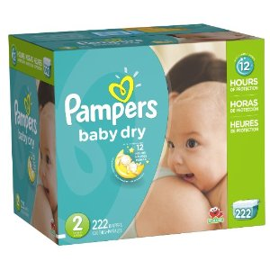 Amazon.com: Pampers Baby Dry Diapers Economy Pack Plus, Size 2, 222 Count: Health & Personal Care
