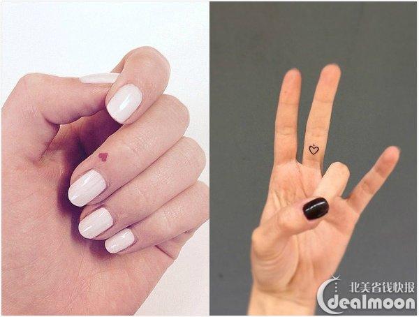 可爱又小清新的手指纹身反而会更考验纹身师的技术,大家记得做好功课