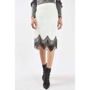 Lace Slip Midi Skirt - Sale & Offers- Topshop USA