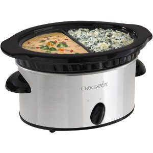 $15.27 Crock-Pot Double Dipper Slow Cooker, Stainless Steel