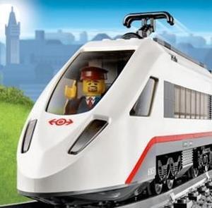 LEGO乐高 城市系列 动车组 60051 带轨道和动力套件