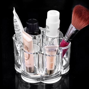 MVPOWER Acrylic Cosmetic Makeup Organizer,Makeup Brush Holder with 12 spaces