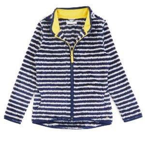 Little Girls' Striped Furry Nautex Fleece (2T-7)