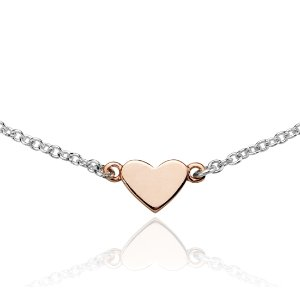 Heart and Arrow Necklace in Sterling Silver and Rose Gold Vermeil | Blue Nile