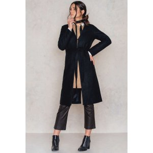 Collarless Wool Coat - Buy online | NA-KD