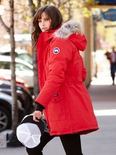 Up to a $300 Gift Card Canada Goose Trillium Fur-Hood Parka Jacket @ Neiman Marcus