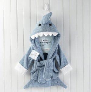 $29.19(reg.$44.00) Baby Aspen Let the Fun Begin Blue Shark Robe, Blue, 12-18 Months