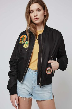 PETITE Badged MA1 Bomber @ TopShop