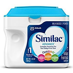 $24.98 Similac Advance Infant Formula with Iron, Stage 1 Powder, 23.2 Ounce