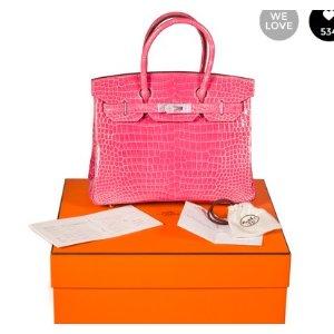 Pink Exotic leathers Handbag Birkin