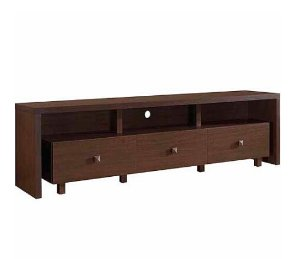 Techni Mobili Light Walnut TV Stand with 3 Drawers for TVs up to 70