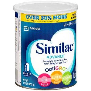 Similac Advance Value Size Stage 1 Advance Complete Nutrition Baby Powder Formula - 30.88 ounce - Abbott Nutrition - Babies