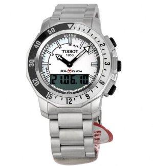 TISSOT Sea Touch White Dial Chronograph Men's Watch T0264201103100